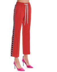 Miu Miu Polyester Sweatpants - Red