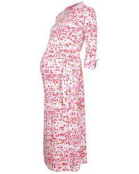 The West Village Maternity & Nursing Shirt Dress Bunting - Pink