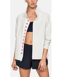 Under Armour Recover Woven Full Zip - White