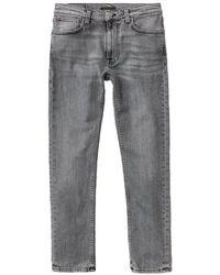 Nudie Jeans Jeans Lean Dean Smooth Contrast L32 - Grey