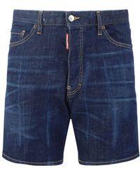 DSquared² Marine Denim Shorts - Blue
