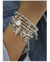 ChloBo Cute Charm Hummingbird Bracelet - Metallic