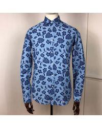 B.D. Baggies Bd Baggies Bradfort Hibiscus Shirt - Blue