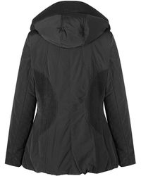 Creenstone - Women's Black Detail Jacket With Hood - Lyst