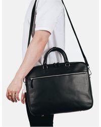 Sandqvist Dag Briefcase (leather) - Black