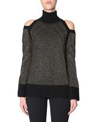 Versace - Women's G35810g604201g1008 Black Wool Sweater - Lyst