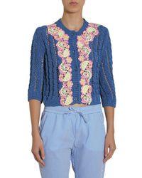 Boutique Moschino Cotton Sweatshirt - Blue