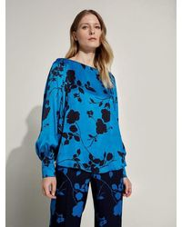 Caractere Floral Top 2116a000492n - Blue