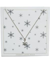 Atterley - Silver Snowflake Necklace - Lyst