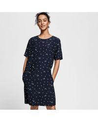 GANT Ladies Microflower Print Dress - Blue