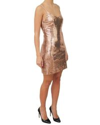 Jucca Women's Dress J2917031 1595 Gold Sizes 44 - Metallic