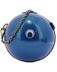 Marine Serre Women's B015ss2106darksapphire Blue Pvc Shoulder Bag