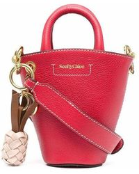 See By Chloé - See By Chlo㉠Women's Chs21ssb04924636 Red Leather Handbag - Lyst