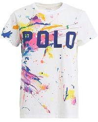 Polo Ralph Lauren Painted Spots Jersey T-shirt - White