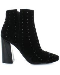 Kendall + Kylie Kendall + Kylie Velvet Ankle Boots - Black