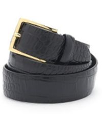Andersons - Andersons Crocodile Effect Leather Belt - Lyst