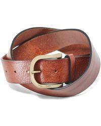 Oliver Sweeney Leather Evry Belt Colour: Cognac - Brown