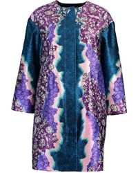 Peter Pilotto Printed Cropped Coat - Brown