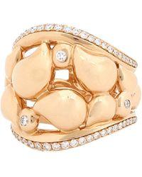 Tamara Comolli Medium Diamond Paveline Lace Ring - Pink