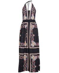 Twin Set Long Dress 'st.patch' - Black