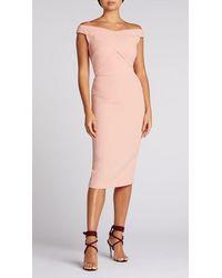 Roland Mouret Amarula Dress Pastel Rose - Pink