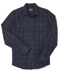 Filson Scout Shirt - Black/indigo Plaid - Blue