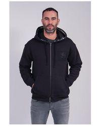 Kent & Curwen Birkett Oversized Fit Zip Hoodie Colour: Black, Size