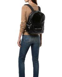 Saint Laurent Nuxx Logo Backpack - Black