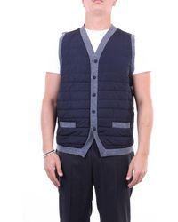 Gran Sasso Knitted Vest Knitted Vest And Grey - Blue