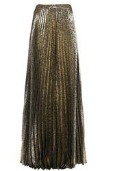 Saint Laurent Long Skirt - Metallic