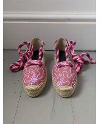 Étoile Isabel Marant Crelyne Pink Printed Espadrilles