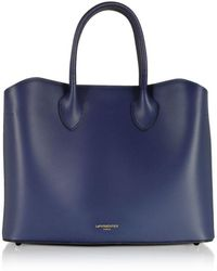 Le Parmentier Women's 063blue Blue Leather Handbag