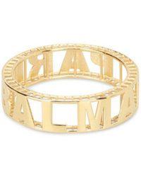Balmain Gold-tone Brass Logo Bangle - Metallic