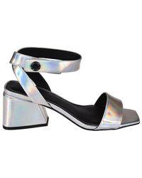 Kendall + Kylie Kyla Silver Leather Sandals - Metallic