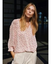 COSTER COPENHAGEN Loose Shirt With Gatherings - Multicolour