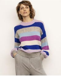 Part Two - Poe Purple Stripe Knit - Lyst