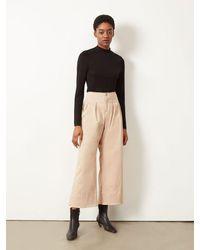 ALIGNE Courtney Wide Leg Trouser Stone , - Multicolour