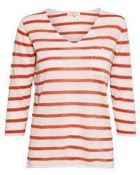 Part Two Dosta Stripe Linen Top - White
