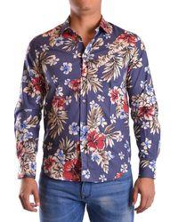 Department 5 Cotton Shirt - Blue