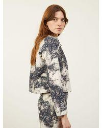 ALIGNE Chyna M Cropped Boxy Jacket Marble Print , - Grey