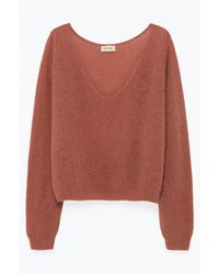 56803e19049de3 American Vintage - Ugoball Lightweight Ugo220 Pink Sweater - Lyst