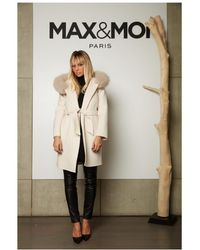 Max & Moi - Limited Edition Belted Cream Fur Coat - Lyst