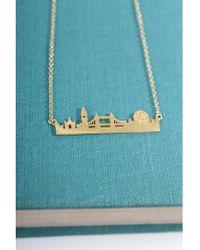Atterley - Gold London Skyline Necklace - Lyst