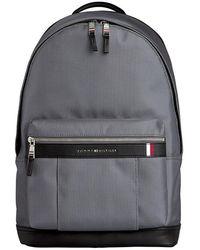 Tommy Hilfiger Elevated Logo Backpack Concrete Grey