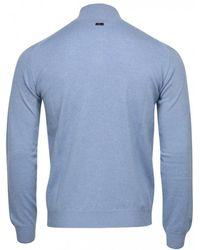 Corneliani Quarter Zip Cashmere Blend Knit (sky Blue)