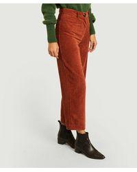 Sessun Velvet Cybill Trousers Carvi Sessãƒâ1n - Red