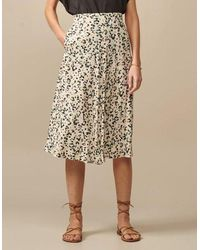 Bellerose Appleby Midi Skirt - Leopard Ecru - Multicolour