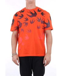 McQ T-shirt Short Sleeve Men Orange