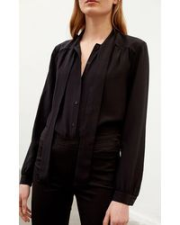 Rodebjer Linn Silk Shirt By - Black