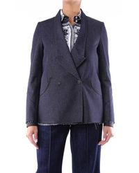 Golden Goose Deluxe Brand Jackets Blazer Women Dark Jeans - Blue